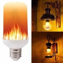 E27 E26 2835 LED Flame Effect Fire Light Bulbs Creative Lights Flickering