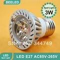 10pcs/lot Ultra Bright Cree E27 Led 3W/4W/5W Bulb Led Lamp Led Light Led Spotlight AC85-265V CE/RoHS High Power Energy Saving