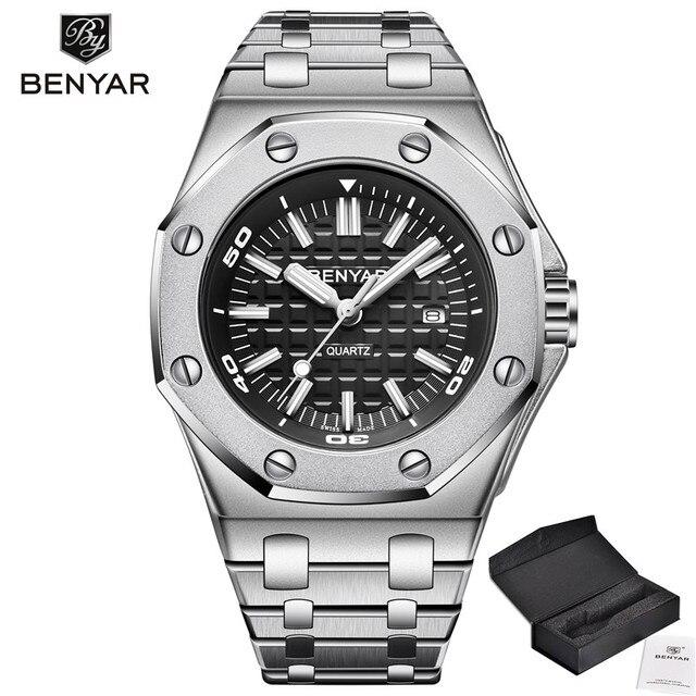 BENYAR 2019 New Men's Watches Business Chronograph/Waterproof/Sport Watch Men Stainless Steel Wristwatch Mens Relogio Masculino | Fotoflaco.net