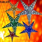 FANLUS 3D Laser Lampshade Lantern Xmas Wedding Party Home Bar Hanging Decor Paper Star Birthday party decoration