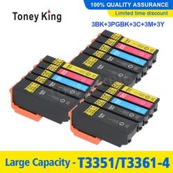 3 zestaw 33XL kompatybilny wkład z atramentem do projektora Epson XP-530 XP-630 XP-830 XP-635 XP-540 XP-640 XP-645 T3351 T3361 dla europy drukarki