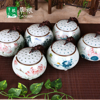 2pc Creative Gifts Handmade China Vintage Tea Storage Tins Box Ceramic Food Containers Jars Case Tanks