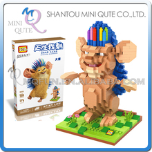 Mini Qute LOZ SPINY LIFE cartoon game kids boys gift diamond assemble plastic building blocks bricks