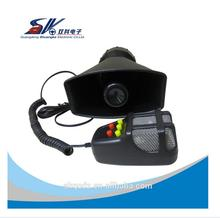 SK DC12V 60W 5 Tone Car Warning Alarm Police Fire PA Siren with MIC System