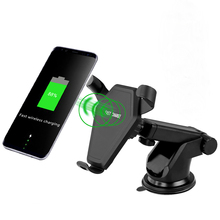 Car Mount Qi Wireless Charger For iPhone X 8 Plus Quick Charge Fast Wireless Charging Pad Car Holder Stand For Samsung S8