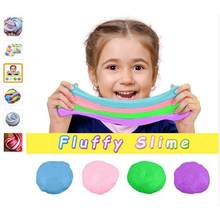 60ML DIY Colorful Fluffy Foam Slime Putty Stress Relief Magic Slime Sludge Cotton Mud Children Adult Toy Anti-stress Toys Clay(China)