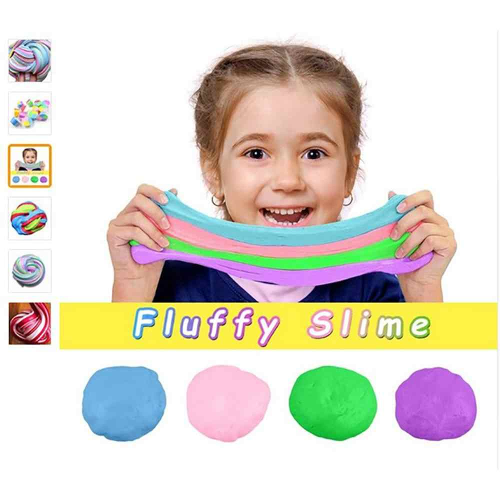 60ML DIY Colorful Fluffy Foam Slime Putty Stress Relief Magic Slime Sludge Cotton Mud Children Adult Toy Anti-stress Toys Clay