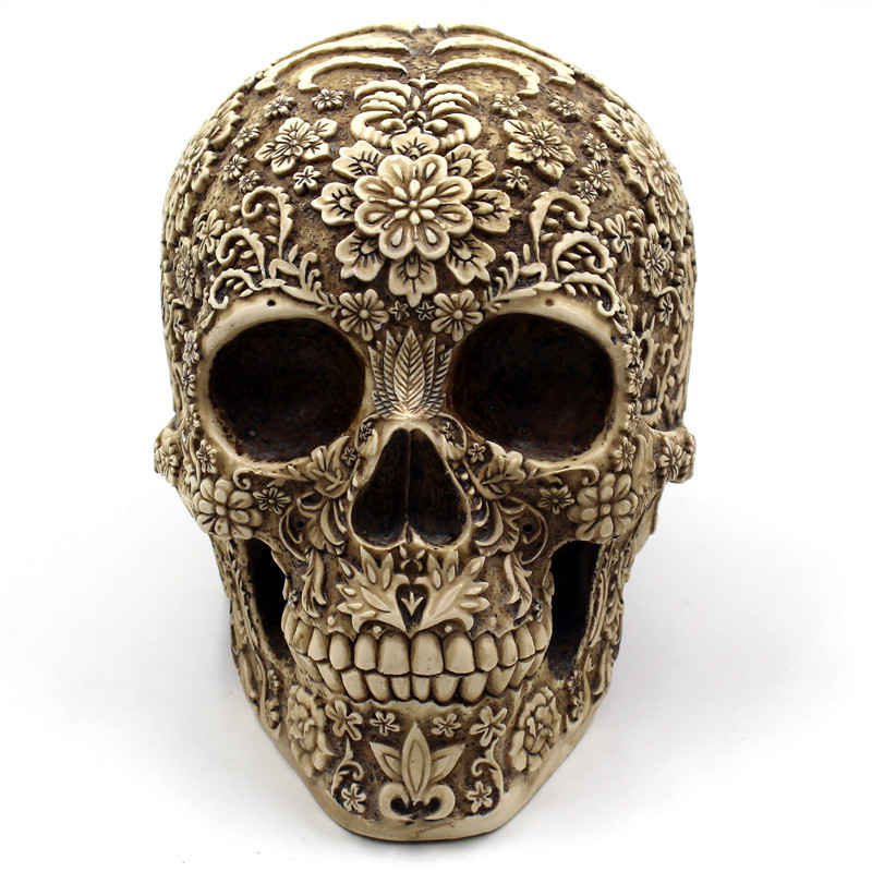 BUF Resin Craft Skull Statues & Sculptures Garden Statues