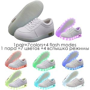 Image 2 - 7ipupas Basket Colorful Luminous sneakers Unisex kids led shoes Homme Femme Lumineuse Schoenen Light Up Chaussures glowing shoes