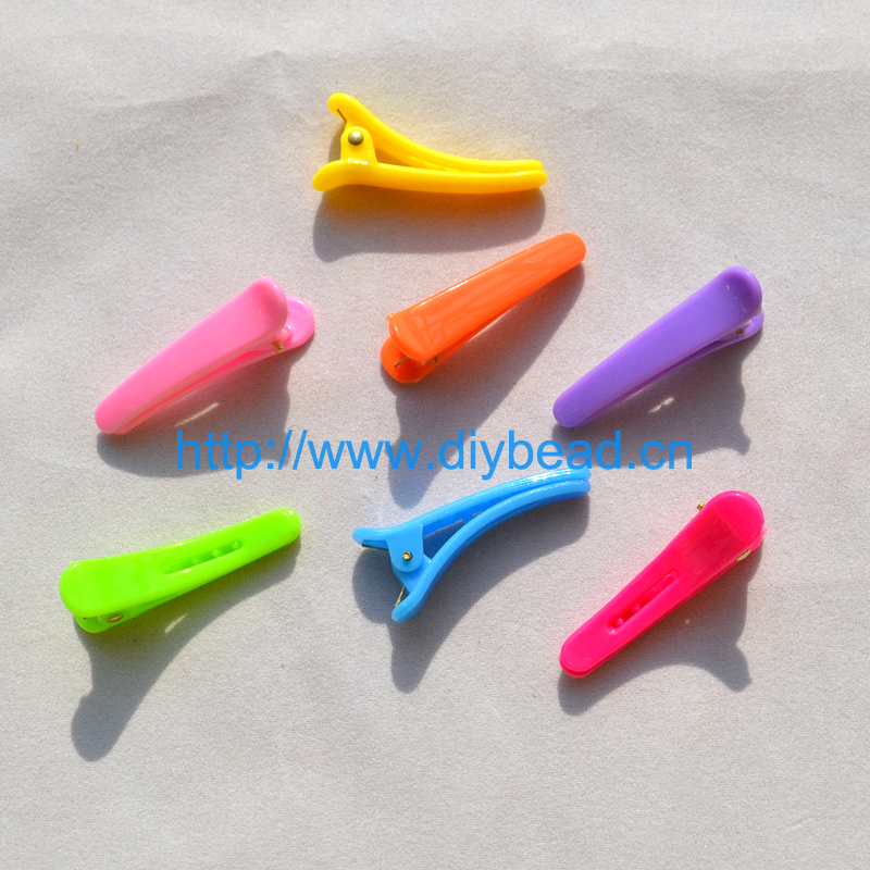 50 pieces/lot shipping free DIY jewelry component Mix Color plastic hair clips Children hair Accessories