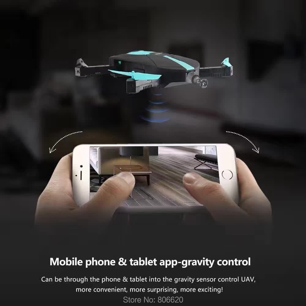 Low Cost HD Wifi Real-time Aerial Photography Foldable Toy Drone with No Head Mode & Mobile Phone & Tablet App Gravity Control_2