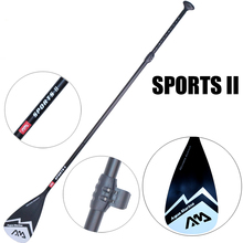 Black extendable paddle oar SUP AQUA MARINA stand up paddle board 3 section surfing board aluminium 165-210cm inflatable boat все цены