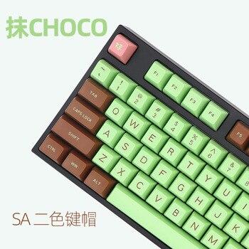 MAXKEY Mchoco SA profil KEYCAPS seti kablolu USB mekanik klavye kiraz MX anahtarı keycaps