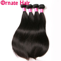 Straight Hair Bundles 100% Human Hair Extension Peruvian Hair 1/3/4 Bundles Double Weft Remy Hair Weave Natural Color 8 28inch
