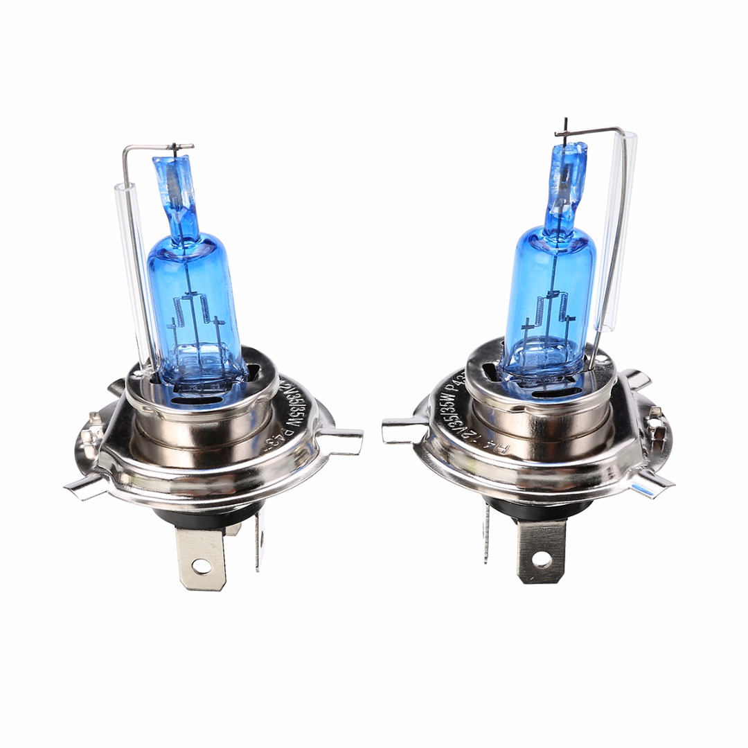Mayitr 2pcs H4 35W 12V Super White Fog Lights Halogen Bulb High Power Car Headlight Lamp Car Source Parking Light