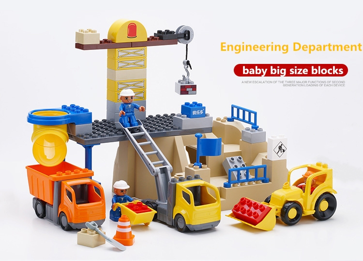 baby Genuine Technic Series LegoIN duplo Engineering Excavator Set Building Blocks Bricks Educational Toys Boys Christmas Gift 196pcs building blocks urban engineering team excavator modeling design