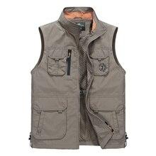 Summer Sleeveless Men Vest Multipockets Photographer Vest Men Fashion Breathable Waistcoat Waterproof Vest chalecos para hombre