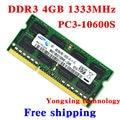 Пожизненная гарантия для samsung DDR3 4 ГБ 1333 мГц PC3 10600 S DDR 3 4 г портативный ноутбук памяти первоначально подлинное 204PIN SODIMM