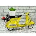 Vespa модель мини металл мотоциклов модель желтый КРАСНЫЙ Италия старинные 1:12 мотоцикл игрушка горячие колеса Литья Под Давлением металл модель мотоцикла