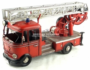 Image 4 - Antieke klassieke brandweerwagen model van Duitse in 80 s retro vintage handgemaakte metalen ambachten voor thuis/pub/cafe decoratie of gift