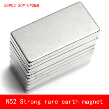цены 50 pcs Wholesale 20*10*2mm n52 magnet Super Strong Block Cuboid Magnets Rare Earth Neodymium 20 x 10 x 2 mm