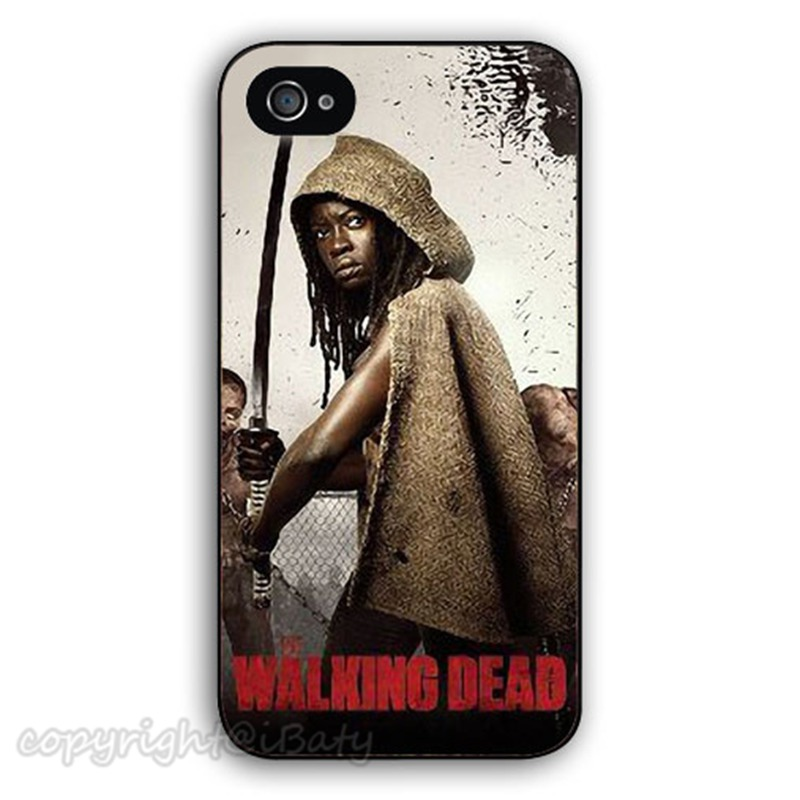 The Walking Dead Michonne hard plastic printing phone case protective cover for Apple iPhone 4 4s 5 5s 6 6s plus