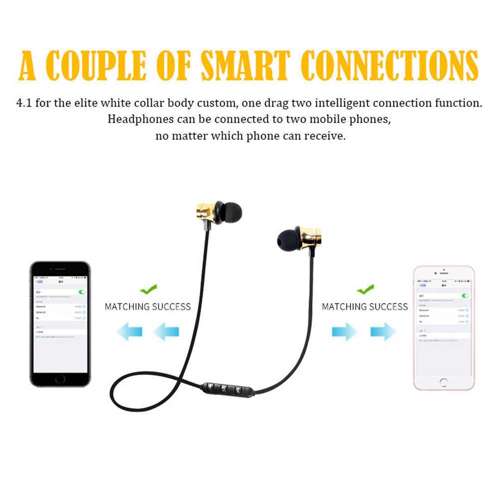 ROVTOP Magnetico Musica Auricolare Bluetooth XT11 Sport Corsa e Jogging Auricolare Bluetooth Senza Fili Con Il Mic Per il iPhone 8X7 Xiaomi Huawei