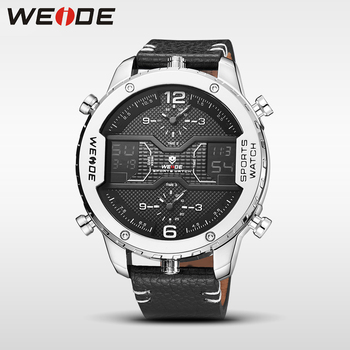 Genuine luxury brand new quartz watch for men sport LED Double display shockproof waterproof digital alarm 1