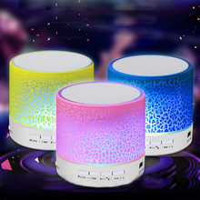 LED Mini Bluetooth Speaker Portable Wireless Sound Box TF Card MP3 Player USB Subwoofer For phone iPhone Xiaomi PC Xiomi Speaker