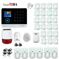SmartYIBA 433MHz Wireless 3G WCDMA WIFI Smart Home Security Alarm Systems APP Control Solar Power Siren Gas Smoke Fire Sensor