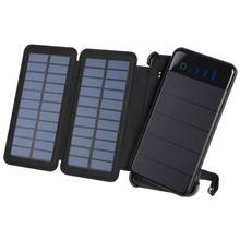 30000MAH Foldable Solar Panel Power Bank Compact Size Outdoor Hiking External Battery Charger 2 USB Ports Powerbank for Phone