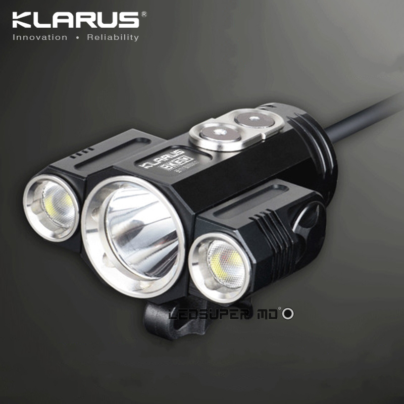 KLARUS BK30 Adjustable Beam-angle Triple CREE XM-L2 U2 LED Bicycle Front Light with Side Lights 100mm glass lenses beam angle 120 degree for cree cxa3590 cxb3590 on led street high bay lamp