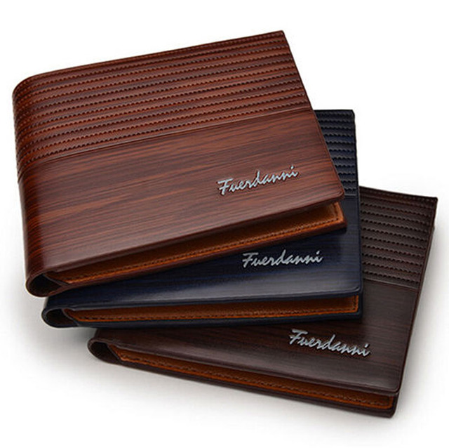 438303bdc New 2018 Men's Designer Brown Leather Wallet Luxury Credit Card Holder  Bifold Purse