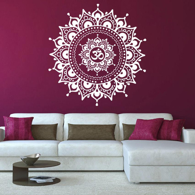 2017 Hot Mandala Flower Indian Bedroom Living Room Wall Stickers Decal Art Mural Home Removable