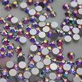 1400 unids SS3 1.35mm Brillante color del AB Nail Rhinestones de Fondo Redondo de Mini Cristal Piedras Decoración de Uñas de Arte Del Clavo de DIY herramientas