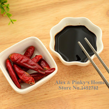 4 Styles Japanese Creations White Ceramic Dishes Kitchen Seasoning Sauce Vinegar Multi-dish Hotpot Plates