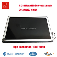 High Resolution 1680*1050 For Apple Macbook Pro 15.4inch A1286 Matte LED LCD Screen Display Assembly 2012 Year MD103 MD104