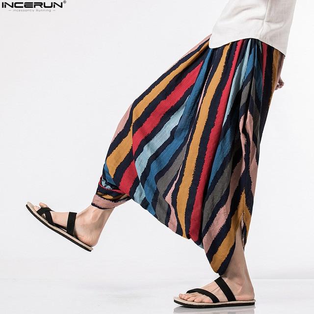 INCERUN 2018 Men Spring Summer Bloomers Male Casual Solid Harem Pants Fluid Big Crotch Pants Men Indian Nepal Baggy Pants S-5XL 1