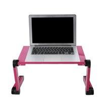 Einstellbar Computer Schreibtisch Tisch Folding Laptop Notebook Stand Bed Tablett Computer Schreibtische Klapptisch-in Laptop-Tische aus Möbel bei