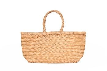 Genuine Leather Large Handbag Knit Handmade Totes Bag For Women High Quality