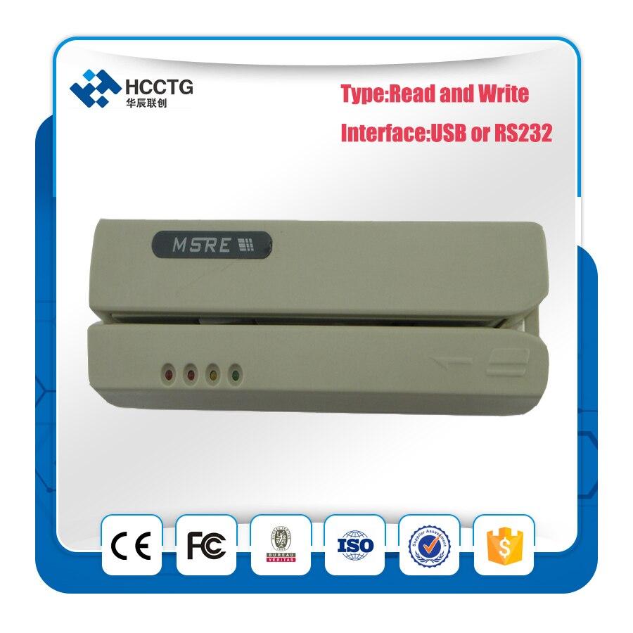 HCC206 Logiciel POS USB Lecteur Magnétique Triple Pistes Lecteur/Écrivain Banque Carte Écrivain