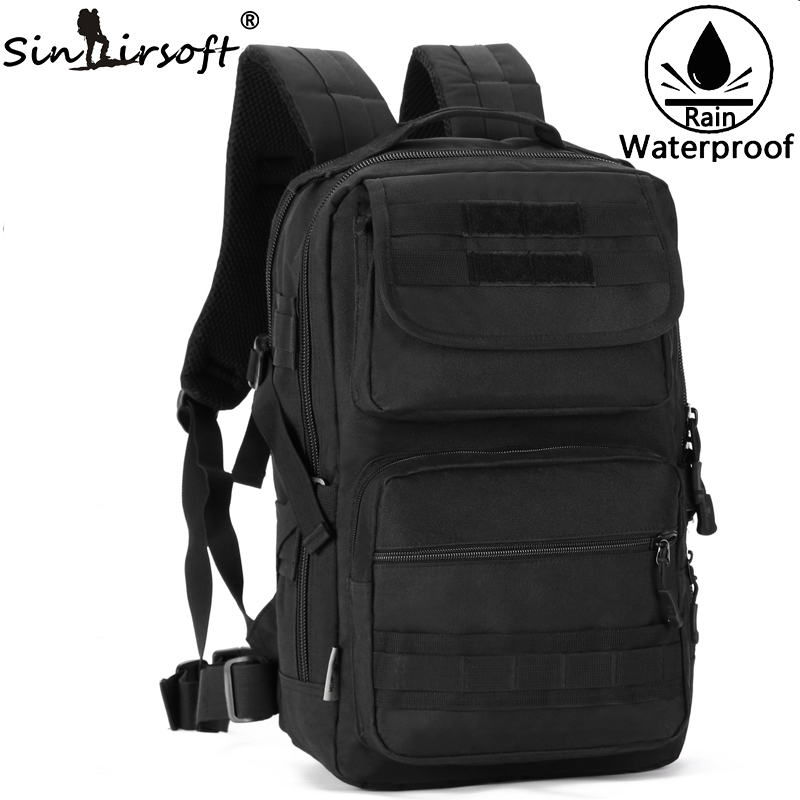 SINAIRSOFT Military Tactical Backpack Travel Mochila 25L Nylon Camouflage Rucksack Molle System Outdoor Fishing Camping LY0092 35l waterproof tactical backpack military multifunction high capacity hike camouflage travel backpack mochila molle system