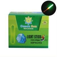 50packs Box Light Stick Tube Bulb Clip On Models Fishing Float Bite Alarm Tools Glow Stick