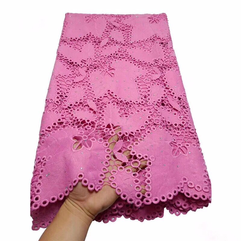 hot selling african cord lace fabrics nigerian lace fabric high quality lace pink French Lace with