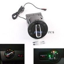 Modified OEM AUTO Headlight Switch Knob Chrome w/ Light Sensor Module For VW Bettle Golf MK4 Jetta MK4 Passat B5 Polo Bora Fabia
