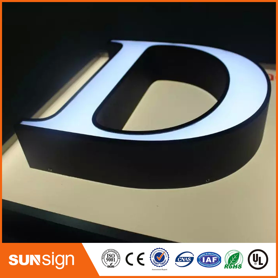 Custom 3d Letters Led Illuminated Letters 3d Channel Letters(China)