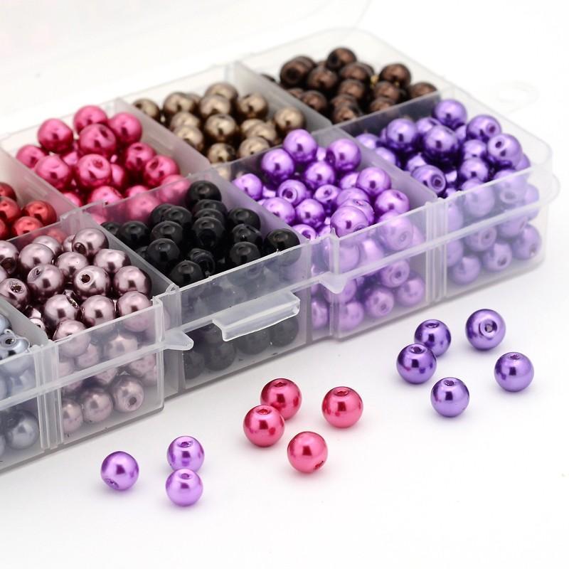 6mm 550 unids Color Mezclado Redondo Perlas de Perlas de Imitación - Bisutería - foto 5