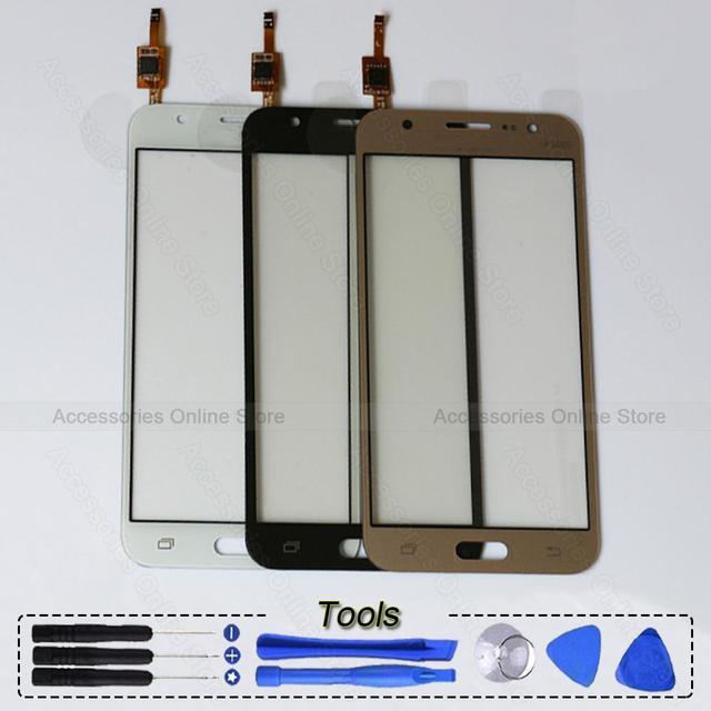 Для Samsung Galaxy J5 J500F J500 J500H J7 J700 J700F J700H дуэта запасных частей оригинальный сенсорный экран стеклянная панель планшета 2015