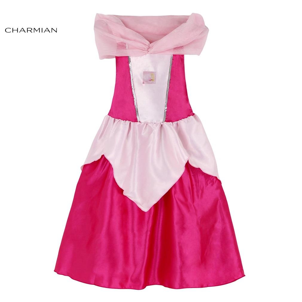 Charmian Beauty Girl Sleeping Princess Cosplay Kids Belle Princess Halloween Carnival Costume Fancy Dress Party Dancing Clothing