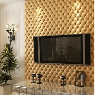 Modern High End PVC Luxury Goffered Pattern Soft Wall Paper/tapete Roll For  Wall Backgroud